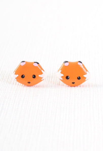 Cat Bear Express Handmade Cute Fox Earrings