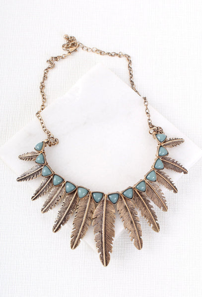 Vintage Style Boho Feather Necklace