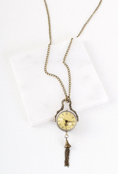 Vintage Style Watch Steampunk Necklace