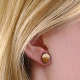 Layla Amber Wooden Acorn Earrings