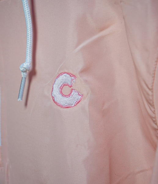 Women's Crop Windbreaker In Pink & White