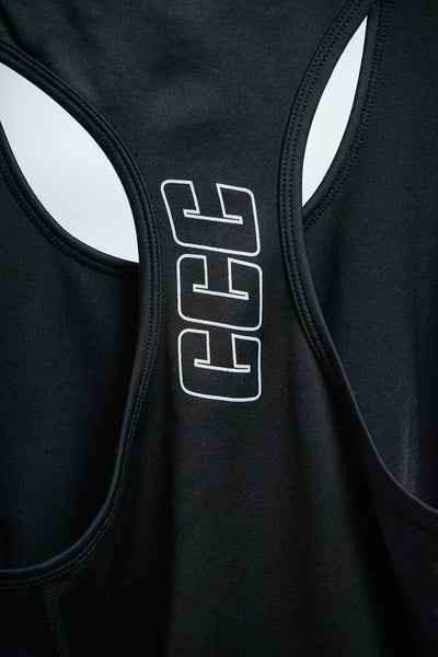 Women's Sport Tank Top in Black & Silver