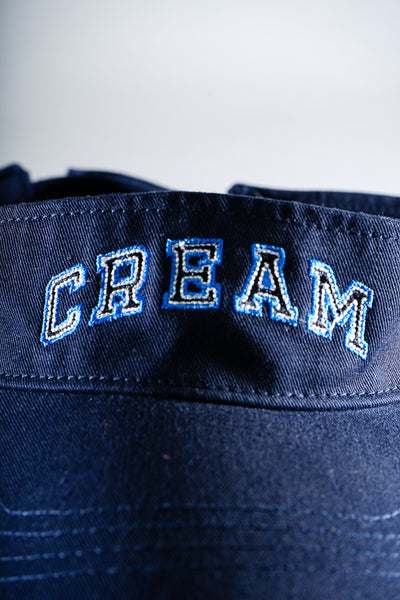 Cream Logo Visor in Navy & Black