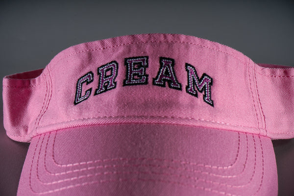 Cream Logo Visor in Pink & Fuchsia