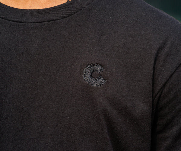 Men's Single C T-Shirt in Black