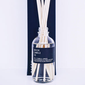 Basik Candle Co. No. 11 Pomelo + Ginger-3 oz. Diffuser