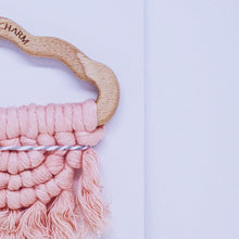 Load image into Gallery viewer, Cloud Macrame Teether- Blush