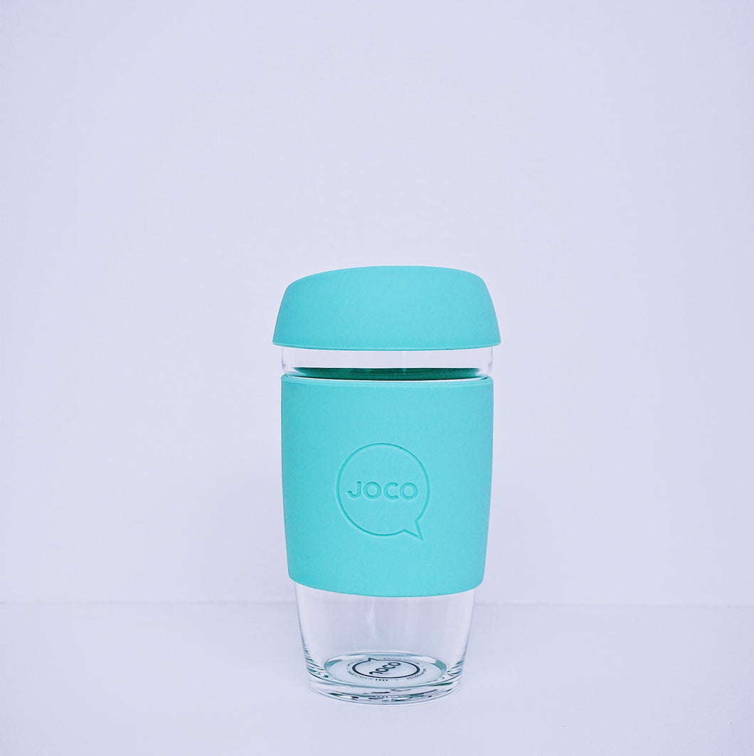 Plastic Free Coffee Cup LIGHT TEAL -16oz