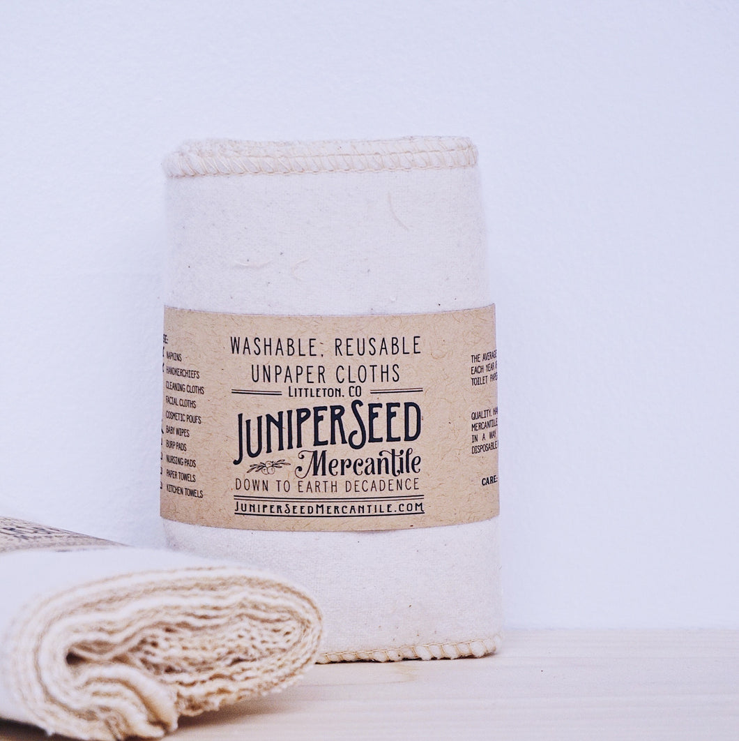 Unbleached Organic Washable Wipes