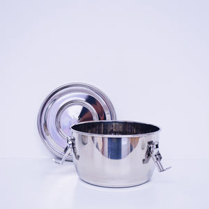 14 cm (5.5 in) Stainless Steel Airtight Watertight Food Storage Container