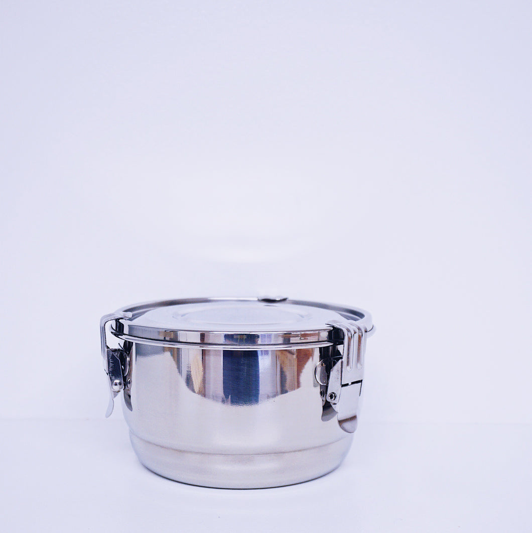 16 cm (6.25 in) Stainless Steel Airtight Watertight Food Storage Container