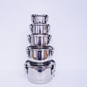 10 cm (4 in.) Steel Airtight Watertight Food Storage Container