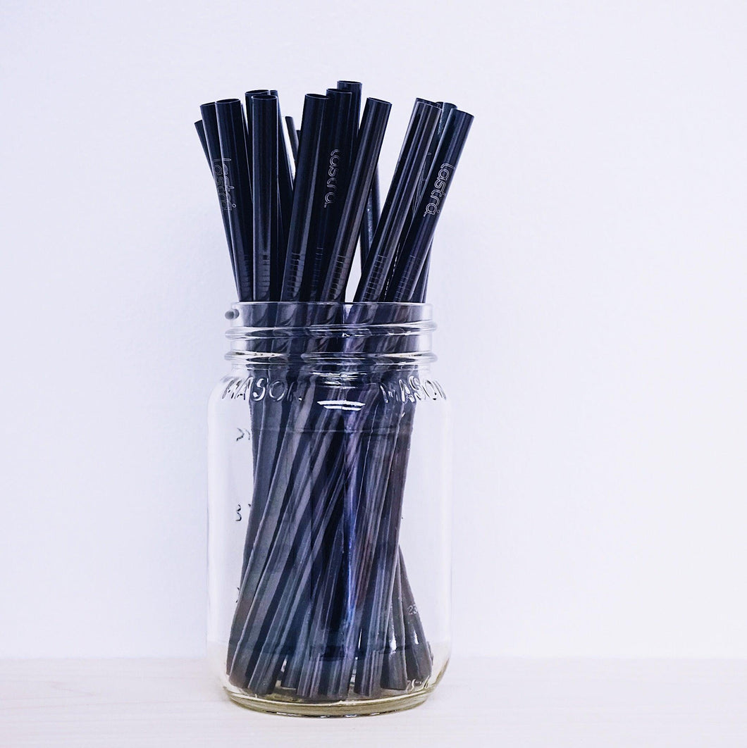 Gunmetal Straw