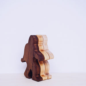 Wooden Big Foot Rattle