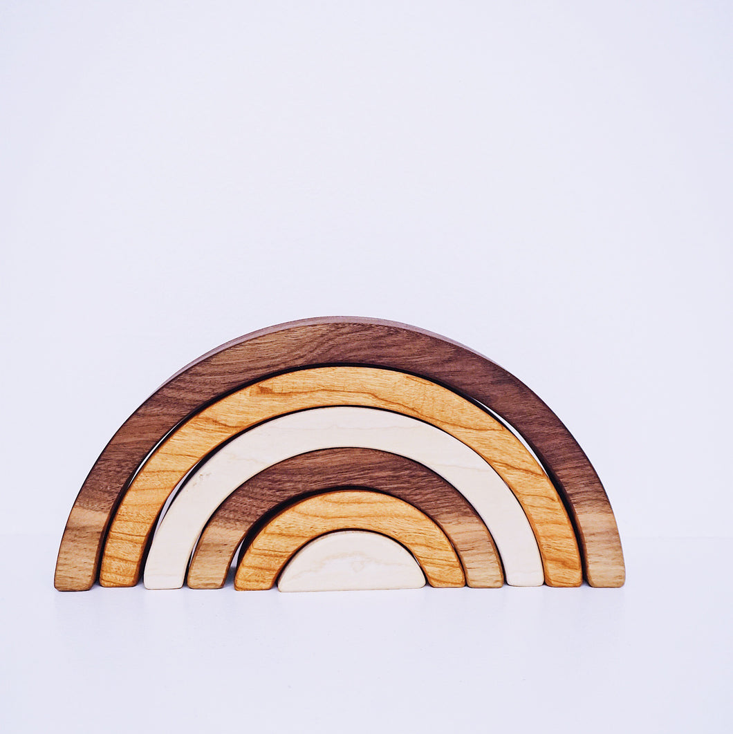 Natural Wooden Rainbow Stacking Toy
