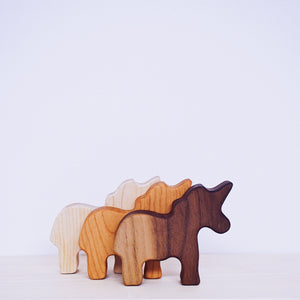 Wooden Unicorn Rattle