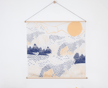 Load image into Gallery viewer, Japanese Furoshiki Wrap -Mountain Blossom
