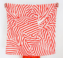 Load image into Gallery viewer, Japanese Furoshiki Wrap -Stripe in Red
