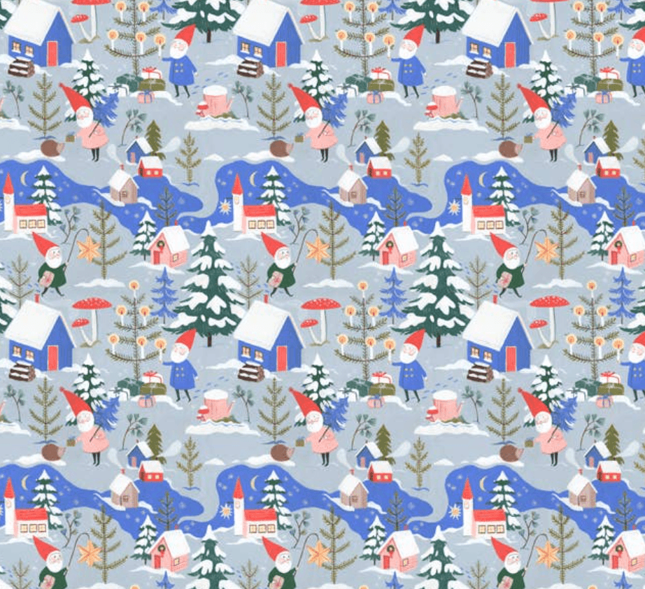 Gnome Village Compostable Wrapping Paper