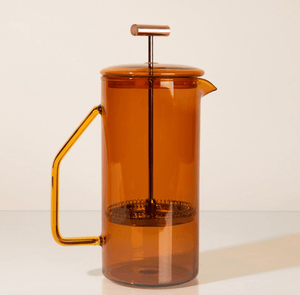 French Press - Amber Glass