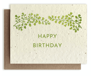 Happy Birthday Plantable Card