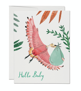 Bird With Baby Greeting Card