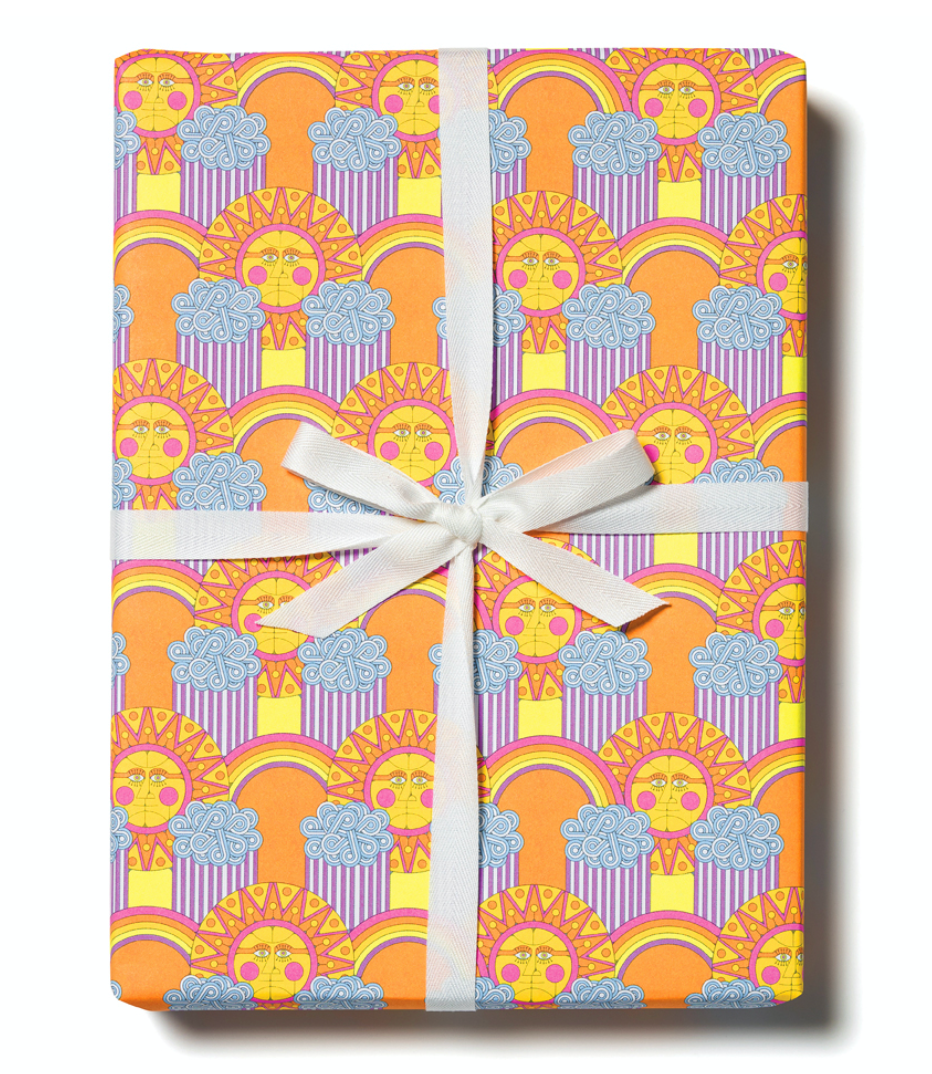 Sun And Rainbows Compostable Wrapping Paper