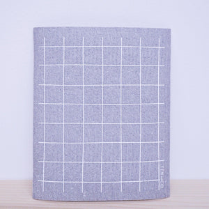 Grid Grey Swedish Sponge Cloth
