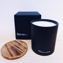 Load image into Gallery viewer, Basik Candle Co. No. 3 Teakwood + Leather -6 oz. Candle