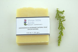 Summer Lemongrass and Rosemary - three little birds soap company