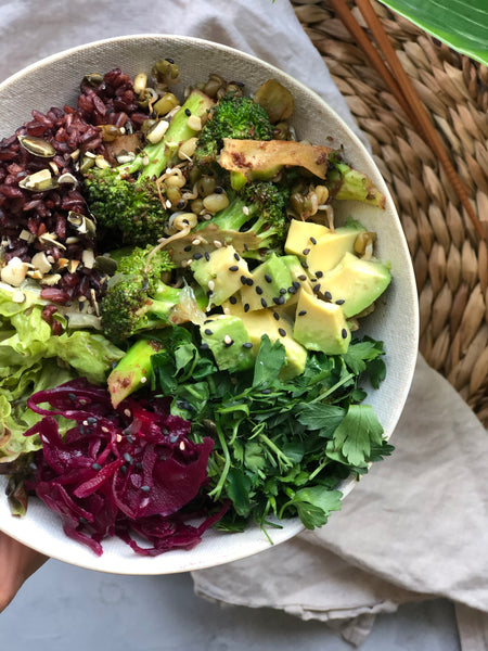 Purple Kraut Nourish Bowl