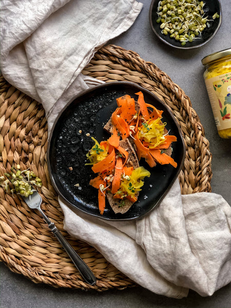 Vibrant Carrot and Golden Kraut Toast