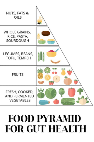 Food pyramid for gut health fermented food SauerCrowd