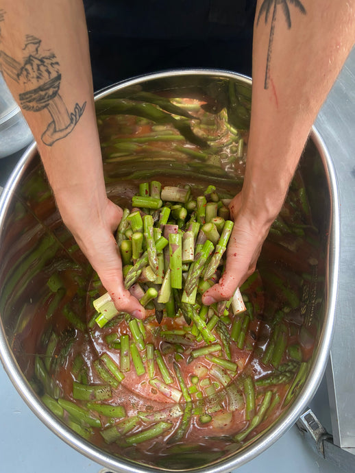 Green Asparagus in Kimchi-brine (limited seasonal edition) - SauerCrowd