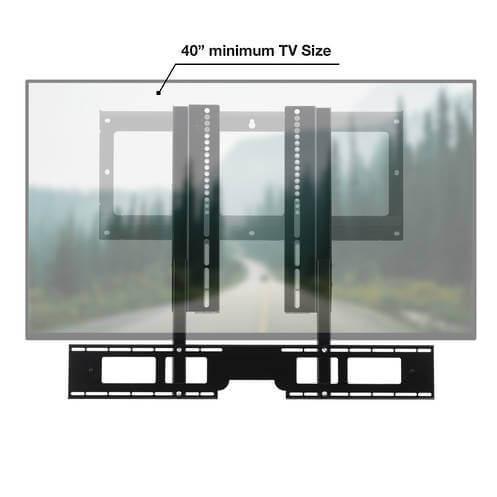 Flexson TV Mount Attachment Sonos Playbar - Black