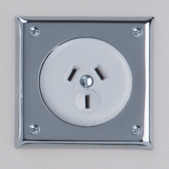Classic 10 Series Single Powerpoint Outlet In White