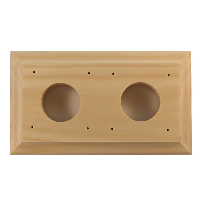 Classic Series Bungalow Oblong Mounting Block For 2 Switches