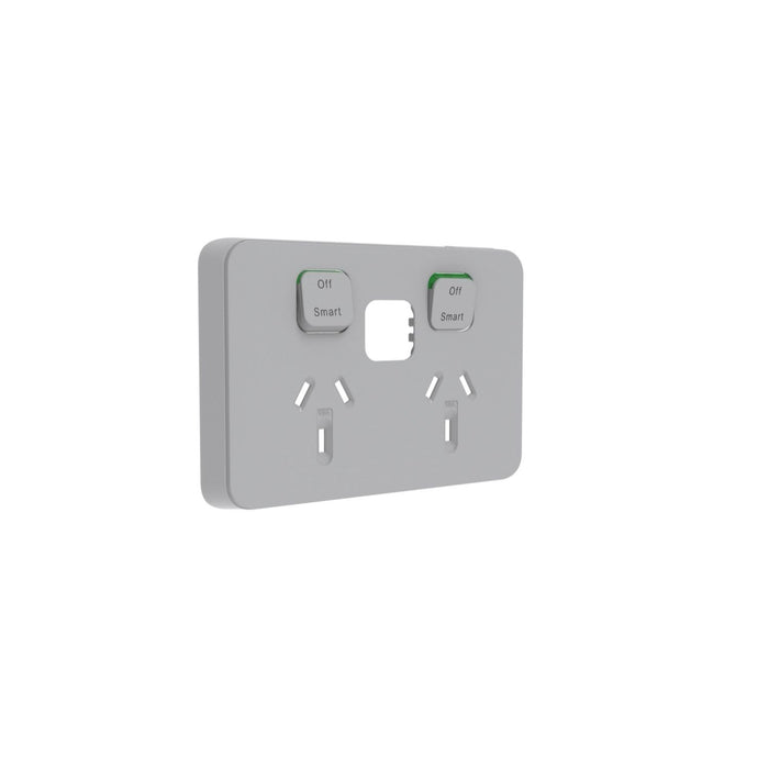 Clipsal Iconic Connected Double Powerpoint Outlet - Skin Only