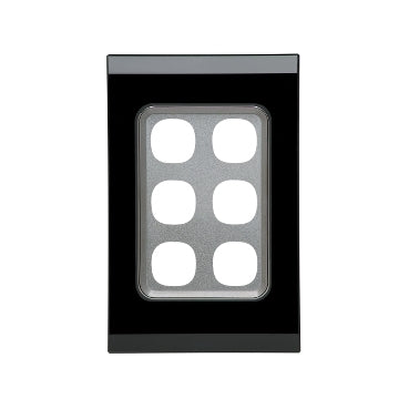 Clipsal Saturn Series 6 Gang Grid And Plate Assembly, Espresso Black