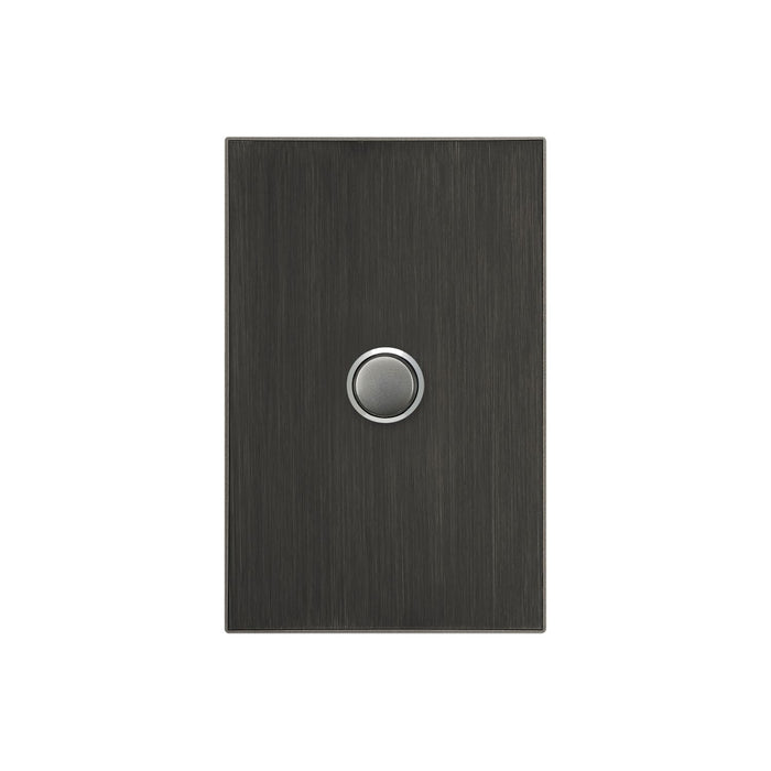 Clipsal Saturn Series 1 Gang Switch Plate - Cover Only, Horizon Black