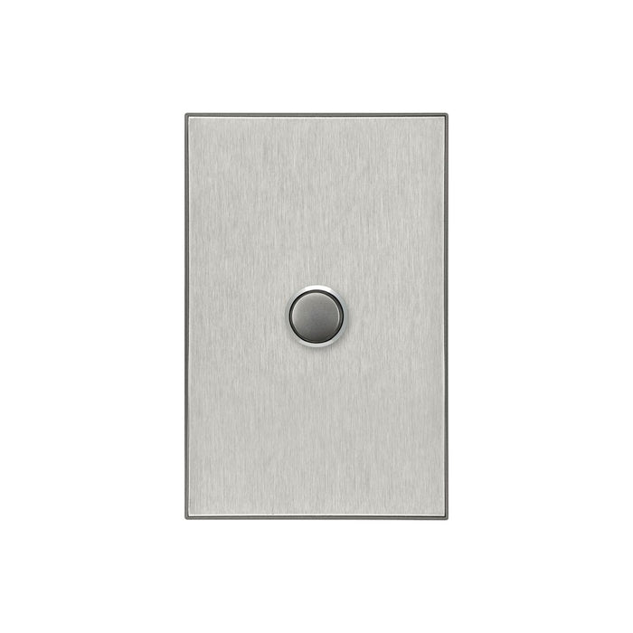 Clipsal Saturn Series 1 Gang Switch Plate - Cover Only, Horizon Silver