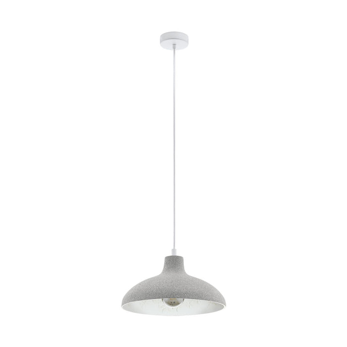 Barrowby - Grey Metal Dome Single Pendant Light