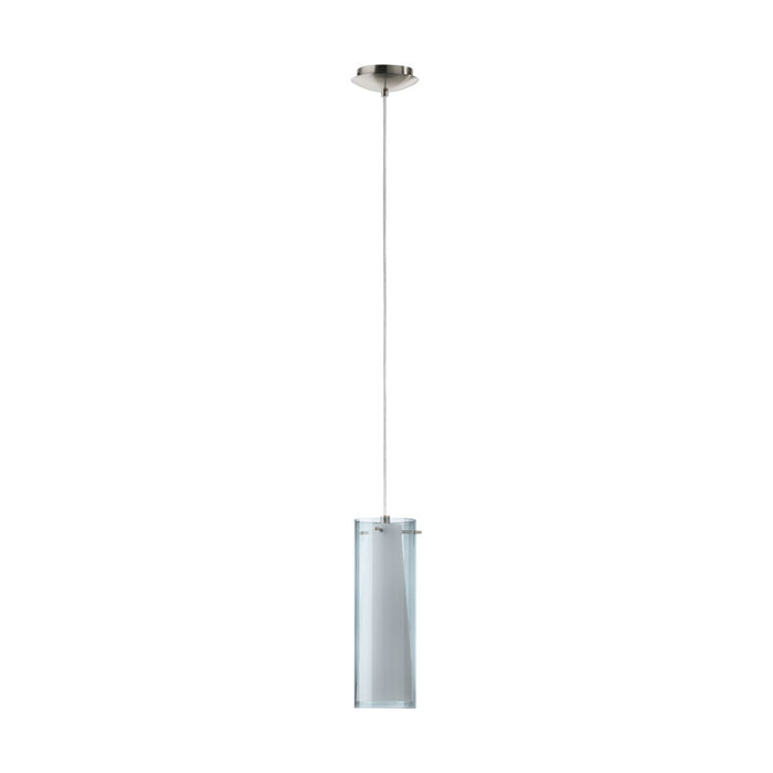 Pinto Nero - Cylindrical Smoked Glass Pendant