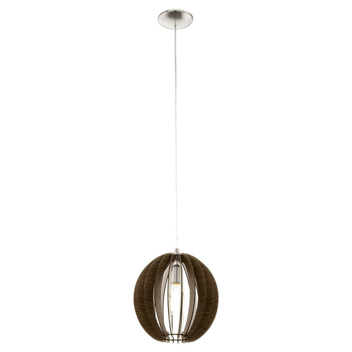 Cossano - Small Timber Spherical Pendant