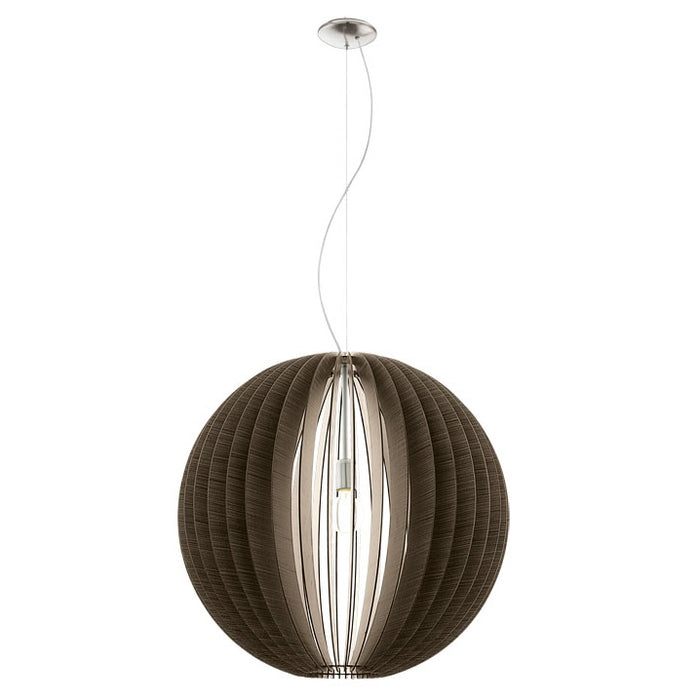 Cossano - Large Timber Spherical Pendant