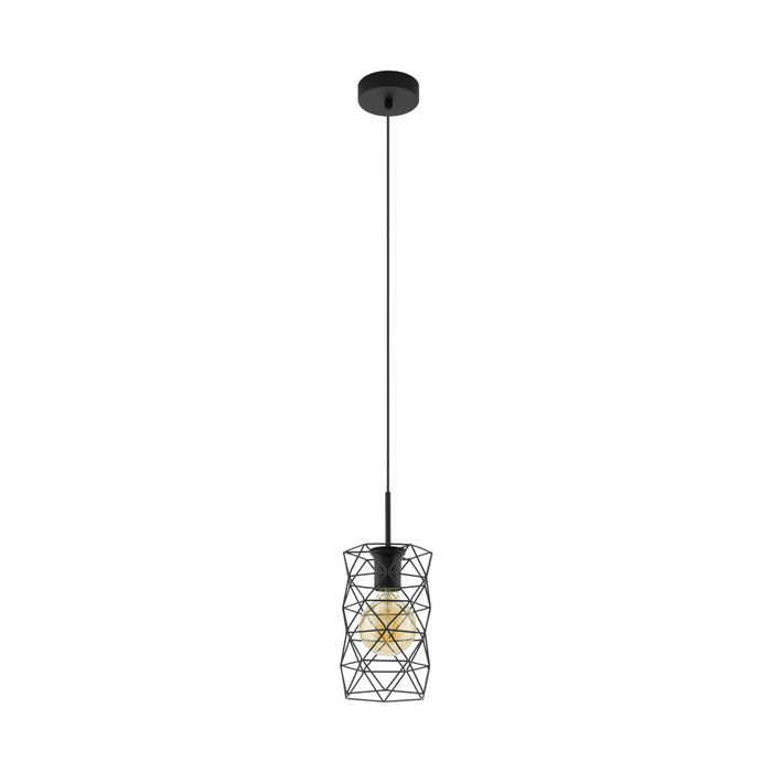 Estevau - Single Light Pendant Luminaire With Cage Detail