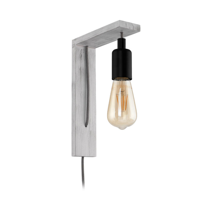 Tocopilla - White Wooden Wall Light With Suspended Light