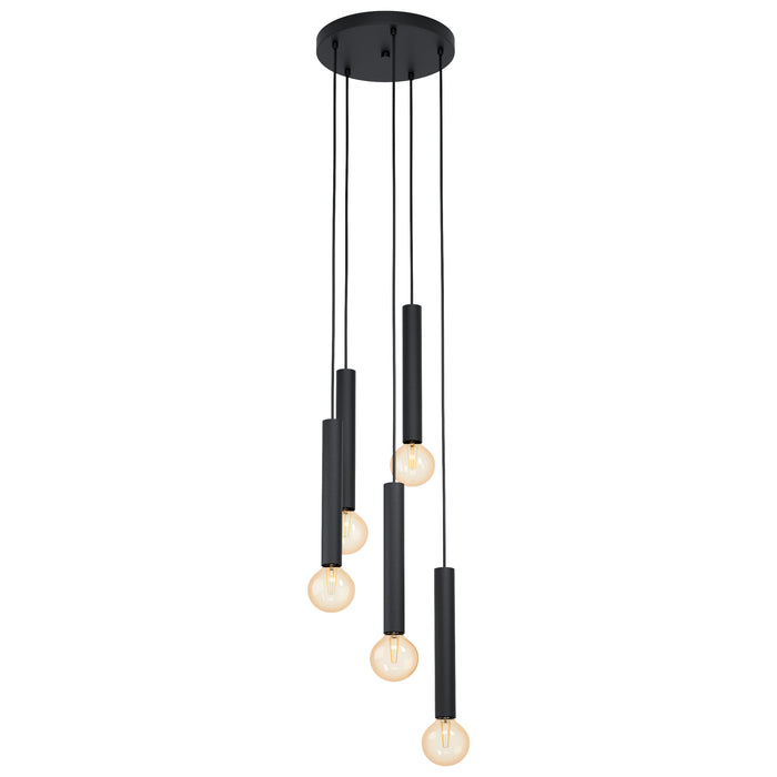 Cortenova - 5 Light Cylindrical Metal Pendant