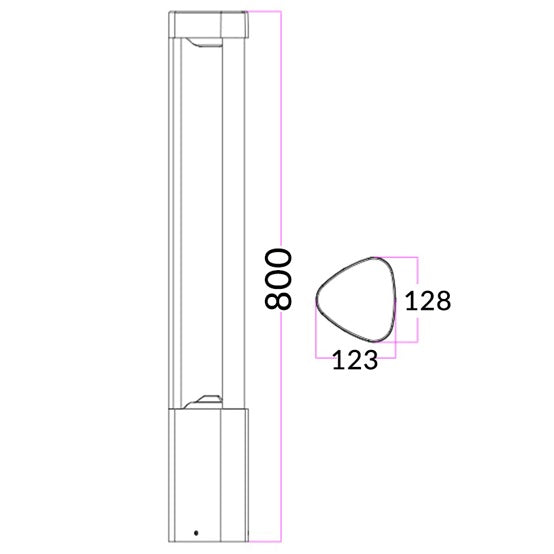 BOL - 3 Section LED Bollard Light