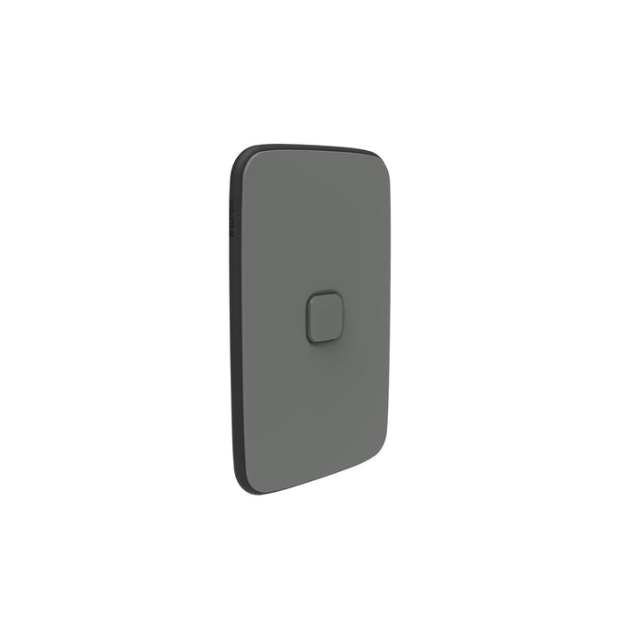 Clipsal Iconic Essence 1 Gang Switch Plate - Skin Only, Ash Grey